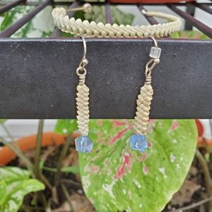 Native American matched earrings and bracelet